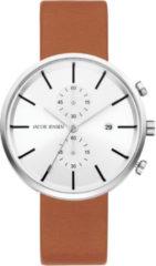 Zilveren Jacob Jensen chronograaf herenhorloge Linear 622
