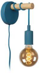 Lucide PAULIEN - Wandlamp Kinderkamer - Ø 12 cm - 1xE27 - Blauw