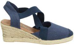 Nelson dames sandaal op sleehak - Blauw - Maat 36