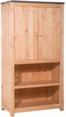 Bruine Koopjetuinspul Woodvision - Buitenkeuken element dubbel 168 incl. deuren - Douglas - 168x109x56 cm