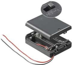 Goobay 12445 Batterijbox 3x AA (penlite) Kabel (l x b x h) 68.5 x 48 x 18.7 mm