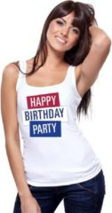 Toppers official merchandise Toppers - Wit Toppers Happy Birthday party 2019 officieel singlet/ mouwloos shirt dames - Officiele Toppers in concert merchandise XL