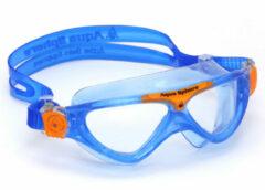 Aqua Sphere Vista Junior - Zwembril - Kinderen - Clear Lens - Blauw/Oranje