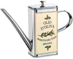 Ölkanne 'Olio-Verde' Cilio silberfarben