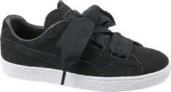 Puma Suede Heart Jr 365135-02, Kinderen, Zwart, Skate Sneakers, maat: 38,5 EU