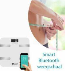 Zwarte Deluxa Je gezondheid goed bijhouden met de Smart Bluetooth weegschaal-Wit Kleur
