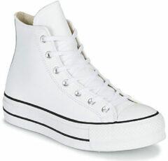 Witte Converse Chuck Taylor All Star Platform High Leather - Dames Schoenen