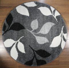 Grijze Karpet24.nl/Merinos Vloerkleed Casa 850-195 Grey 120x120 cm-Round