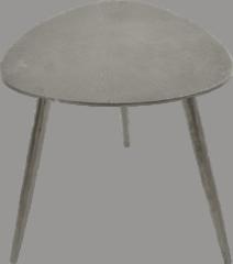 Fraaai Les® Bijzettafel Shine - salontafel - grijs - aluminium - 42x42x42 cm - 42 cm - driehoek - buiten - tuin