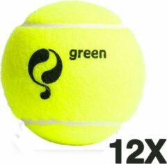 Quick Q-Tennisbal Stage 1 - 12 stuks Geel-Groen stip