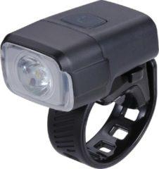 Zwarte BBB Cycling NanoStrike 400 Lumen Fietsverlichting - USB oplaadbare Koplamp Fiets BLS-130