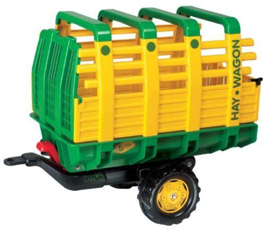 Afbeelding van Groene Rolly Toys aanhanger RollyHay junior groen/geel