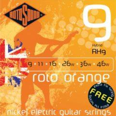 Rotosound Roodo Oranges RH9 9-46 Hybrid nikkel e1 dubbelt