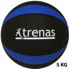 Trenas - Pro Medicijnbal - Medicine bal - Rubber - 5 kg - Zwart-Blauw