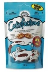 Catisfactions Kattensnoepjes 60 g - Kattensnack - Zalm - Kattenvoer
