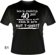 Bc Funny zwart shirt. T-Shirt - Ben ik eindelijk 40 jaar - Krijg ik zo'n KUT Tshirt - Maat 3XL