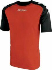 Kappa Paderno Shirt Korte Mouw Heren - Rood / Zwart | Maat: S-M