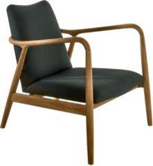 Pols Potten Chair Charles fauteuil zwart/hout