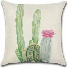 Roze By Javy Cactus - Britt - Kussenhoes - 45x45 cm - Sierkussen - Polyester