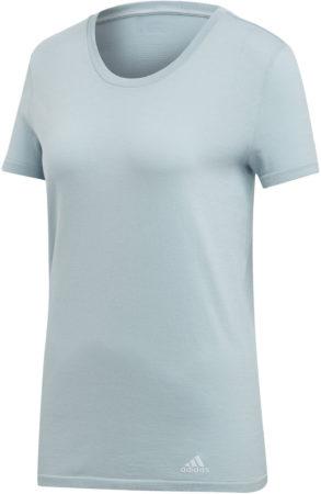 Afbeelding van Grijze Adidas 25/7 hardloopshirt voor dames - Hardloopshirts (korte mouwen)