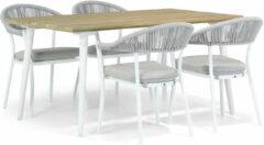 Witte Santika Furniture Santika Vivian/Julia 160 cm dining tuinset 5-delig