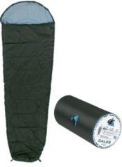 10-T Outdoor Equipment 10T Caleb XL Camping Schlafsack bis -8°C Outdoor Mumienschlafsack 220x75cm Hüttenschlafsack mit leichten 860g Trekking Reiseschlafsack für 2 - 3 Jahre