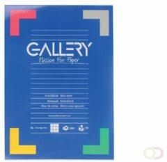 Blauwe Gallery schrijfblok formaat A4 geruit 5 mm 100 vel