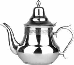 Zilveren BIKO - Marokkaanse theepot Marrakech - RVS - 0,8 Liter