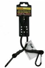 Zwarte Merkloos / Sans marque Karabijnhaak met elastiek voor bagage of trolley 60 cm