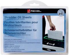 Witte Rexel - Papiervernietiger onderhoud - Geoliede bladen - 20 stuks