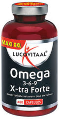 Lucovitaal Omega 3-6-9 complex X-Forte Supplement - 420 Capsules