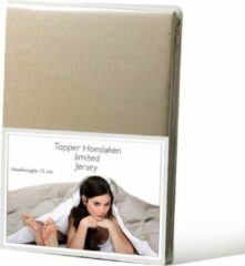 Limited jersey topper hoeslaken - taupe - (140x200/210 cm)