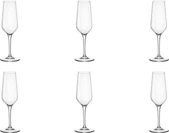 Afbeelding van Transparante Rocco Bormioli- Electra Champagne flutes - 23 cl - 6 stuks