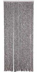 Antraciet-grijze Living Lesli - Kattenstaart - 90x200 cm - Antraciet/Wit