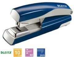 Nietmachine Leitz New NeXXt 5523 Flat Clinch 40vel 24/6 blauw