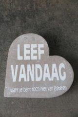 Taupe Merkloos / Sans marque Tekst Hart Leef Vandaag