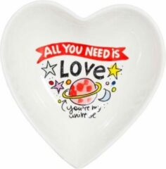 Blond Amsterdam Valentijn Bord - All You Need Is Love - 16 cm