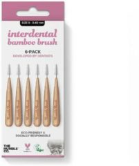 Zilveren Humble Brush Interdental borsteltje 6 st - roze - 0.40 mm 0,40 mm