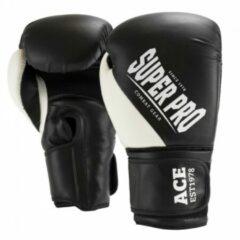 Super Pro Combat Gear ACE (kick)bokshandschoenen Zwart-Wit - 12 oz