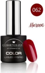 Cosmetics Zone UV/LED Hybrid Gel Nagellak 7ml. Maroon 062