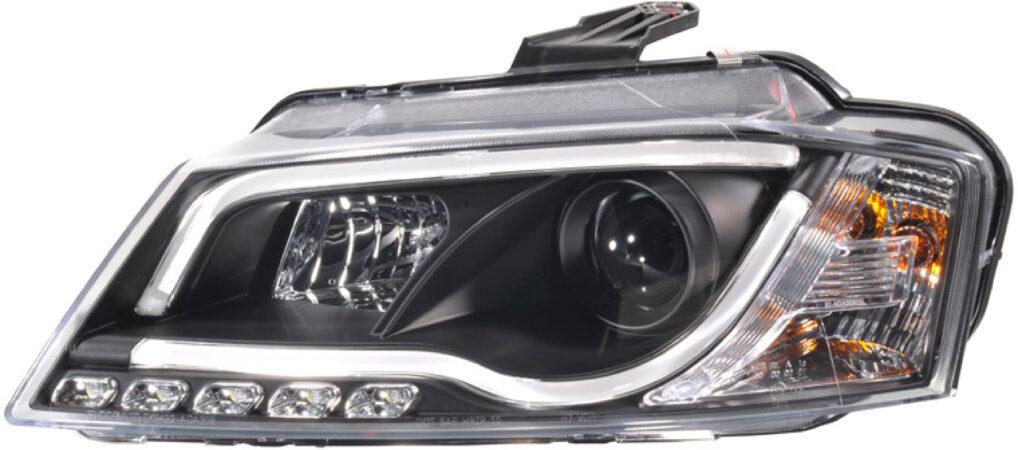 Afbeelding van AutoStyle Set Koplampen incl. DRL 'Light-Bar' passend voor Audi A3 2008-2012 - Zwart