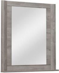 Gamillo Furniture Wandspiegel Eden 92 cm hoog in grijs eiken