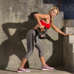Zwarte Iron Gym Kettlebell 8 kg Gewichten - Thuis sporten - Fitness