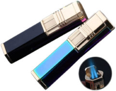 Meco IPRee® Double Torch Jet Flame Ignitor Starter Outdoor Camping BBQ Windproof Butane Gas Lighter with Cigar Punch