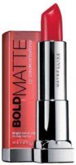 Rode Maybelline Color Sensational Bold Matte Lippenstift - Mat 4