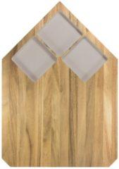 TAK Design Pau Snijplank - Acaciahout - 40,5 x 28,5 cm - Warm Grijs