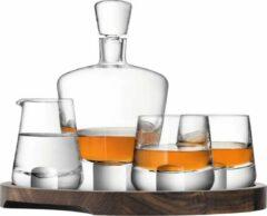 Bruine LSA International L.S.A. Whisky Cut Connoisseur Set - Karaf en Glazen