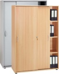 Schrank Aktenschrank Büroschrank Ordnerschrank Büromöbel Regal Omegos 480 VCM Buche