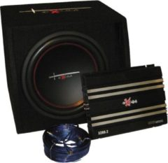 Excalibur X1 Basspack 12'' Subwoofer Met Versterker En Kabelset