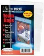 Ultrapro 100 opbergzakjes Ultra Pro Team Bags Transparant Zakjes Met Resealable Plakstrip